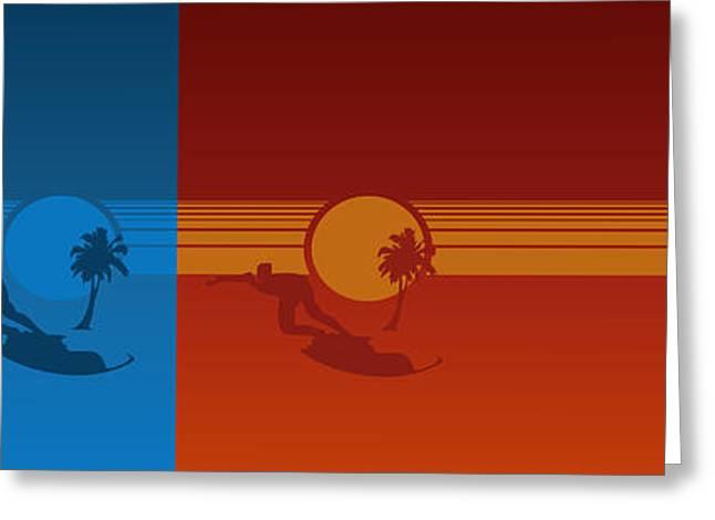 Pearl Jam Digital Art Greeting Cards - Los Angeles Greeting Card by Tomas Raul Calvo Sanchez