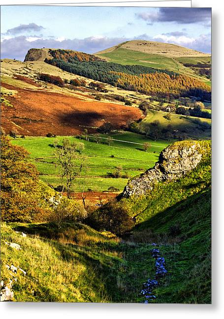 Mam Tor Greeting Cards - Lose Hill And Great Ridge Greeting Card by Darren Burroughs