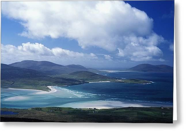 Western Isles Greeting Cards - Losgaintir Bay Greeting Card by Axiom Photographic