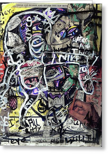 Recently Sold -  - Endorsement Mixed Media Greeting Cards - Losing Face Value Greeting Card by Robert Wolverton Jr