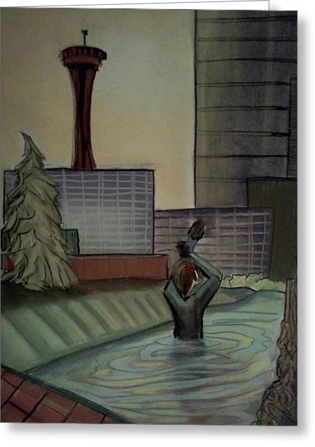 Seattle Pastels Greeting Cards - Lost and Found Greeting Card by Casey P