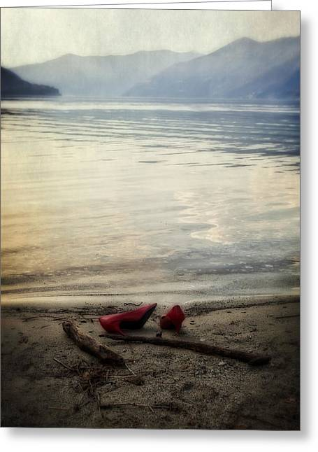 Sandy Beaches Greeting Cards - Lost And Found Greeting Card by Joana Kruse