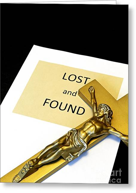 Fundamentalism Greeting Cards - Lost and Found Greeting Card by John Van Decker