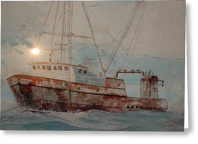 Fineartamerica Greeting Cards - Lost At Sea Greeting Card by Jim Cook