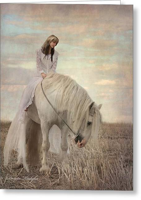 Equestrian Digital Art Greeting Cards - Lost Elves 2 Greeting Card by Dorota Kudyba