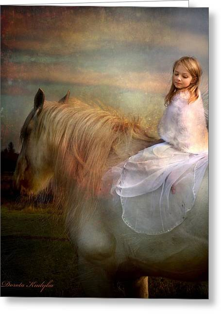 Equestrian Digital Art Greeting Cards - Lost Elves 4 Greeting Card by Dorota Kudyba