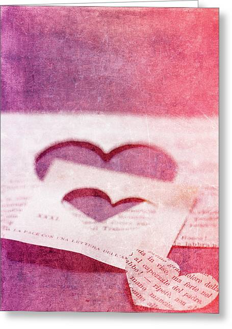 Hearts Greeting Cards - Lost Hearts Greeting Card by Rebecca Cozart