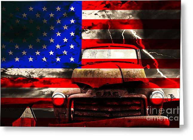 Photography Lightning Digital Art Greeting Cards - Lost In America Greeting Card by Wingsdomain Art and Photography