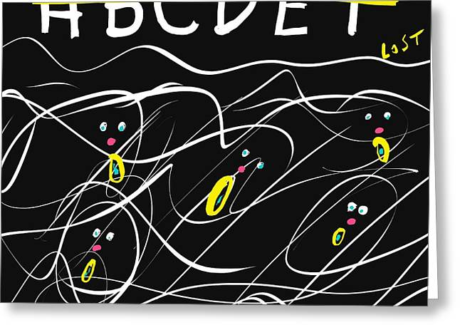 Artprint Greeting Cards - Lost In Education Greeting Card by Alec Drake