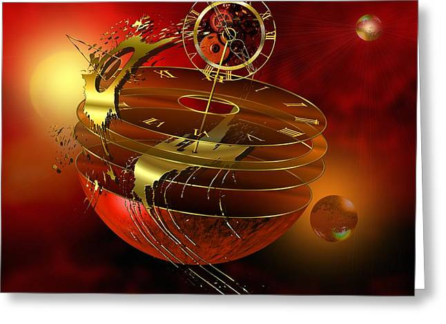 Imagination Digital Art Greeting Cards - Lost In Time Greeting Card by Franziskus Pfleghart