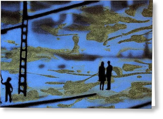Zug Greeting Cards - Lost in translation - Serigrafia arte urbano Greeting Card by Arte Venezia