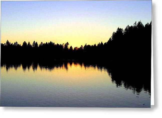 Lost Lagoon Sunset Greeting Card by Will Borden