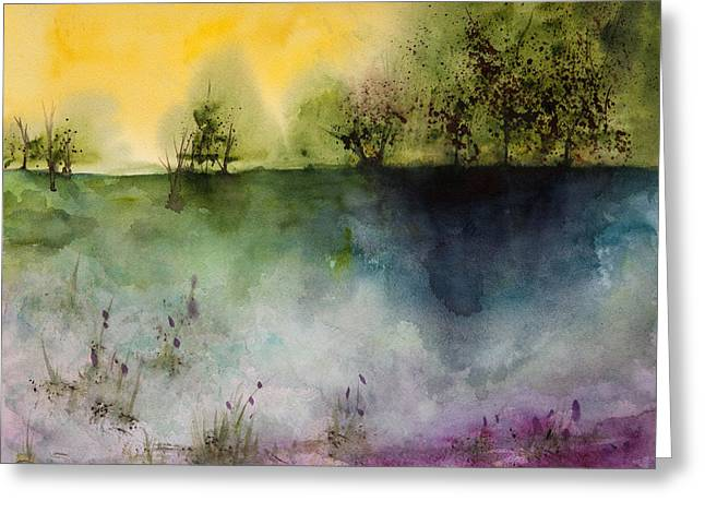 Mystical Landscape Greeting Cards - Lost Lake Greeting Card by Lynne Furrer