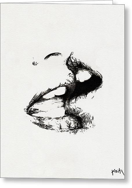 Ink Drawing Greeting Cards - Lost Lovers Greeting Card by Keith QbNyc