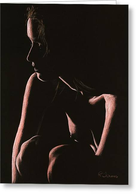 Frontal Nude Greeting Cards - Lost Greeting Card by Richard Young