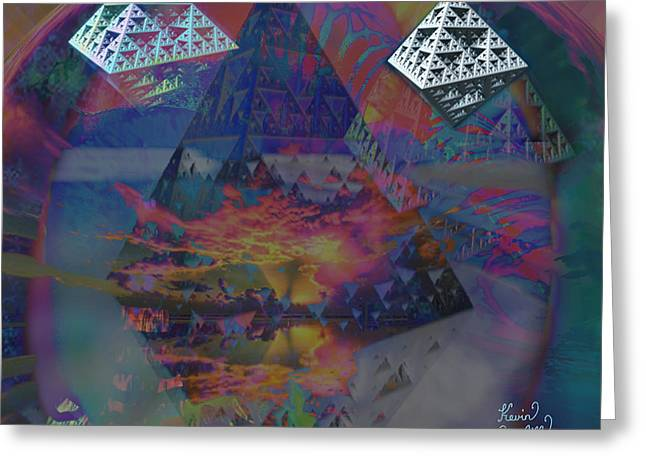 Outerspace Mixed Media Greeting Cards - Lost Secrets Greeting Card by Kevin Caudill