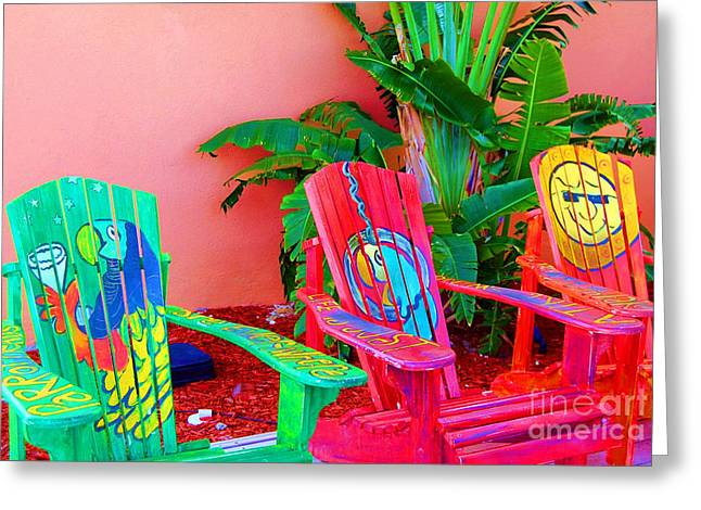 Adirondack Chair Greeting Cards - Lost Shaker of Salt Greeting Card by Debbi Granruth