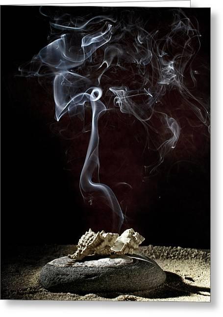 Smoke Art Greeting Cards - Lost souls Greeting Card by Ivan Vukelic