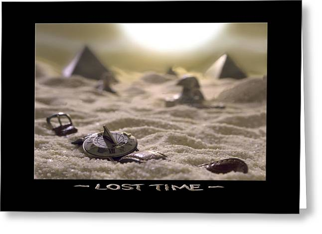 Pyramids Greeting Cards - Lost Time Greeting Card by Mike McGlothlen