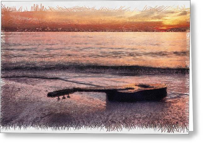 Tampa Greeting Cards - Lost Tune - Sketch Greeting Card by Nicholas Evans