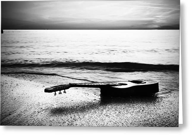 Manatee Co. Greeting Cards - Lost Tune - BW Greeting Card by Nicholas Evans