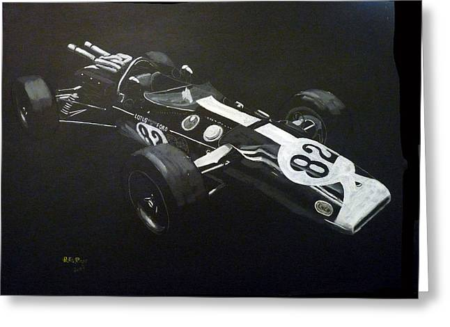 Indycar Greeting Cards - Lotus 38 No82 Greeting Card by Richard Le Page