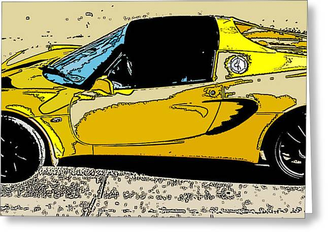 Samuel Sheats Greeting Cards - Lotus Elise side study Greeting Card by Samuel Sheats