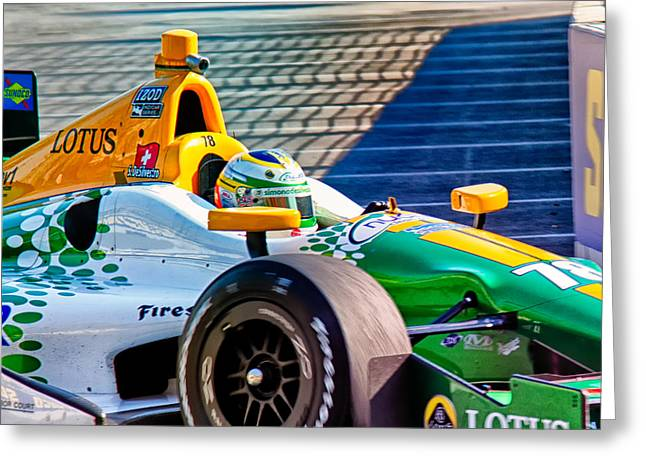 Indy Car Greeting Cards - Lotus Greeting Card by Glenn Thompson