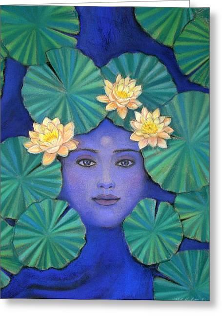 Spirituality Pastels Greeting Cards - Lotus Nature Greeting Card by Sue Halstenberg