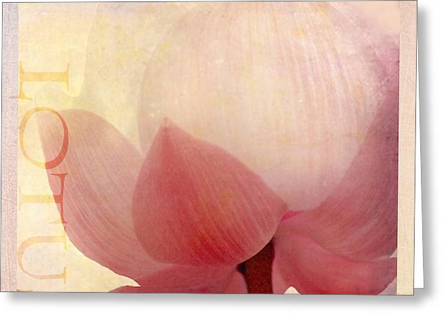 Pink Lotus Greeting Cards - Lotus of Love Greeting Card by Linde Townsend