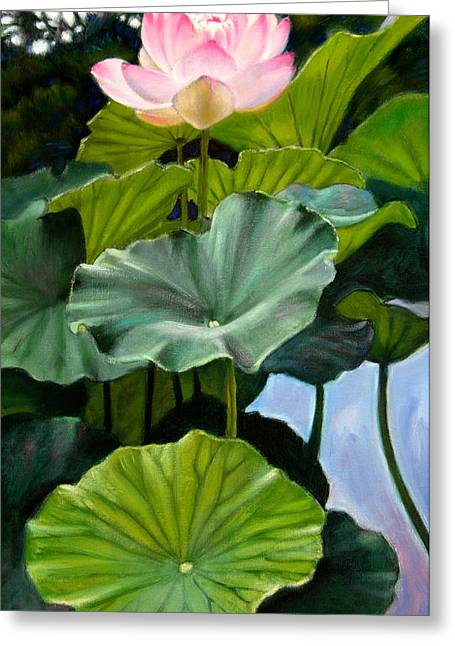 Lotus Flower Greeting Cards - Lotus Rising Greeting Card by John Lautermilch