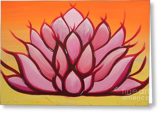 Silvie Kendall Paintings Greeting Cards - Lotus Greeting Card by Silvie Kendall