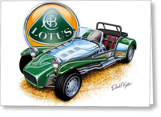Lotuses Greeting Cards - Lotus Super 7  Greeting Card by David Kyte