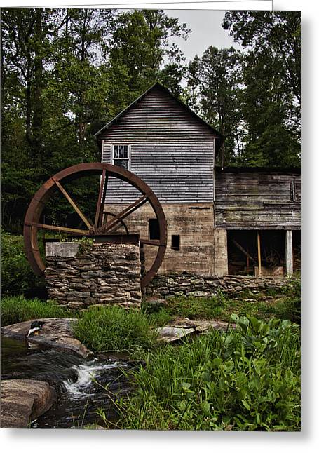 Grist Mill Greeting Cards - Loudermilk Mill Greeting Card by Heather Reeder