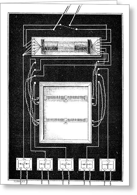 Ruhmkorff Coil Greeting Cards - Loudspeaker Apparatus, 19th Century Greeting Card by