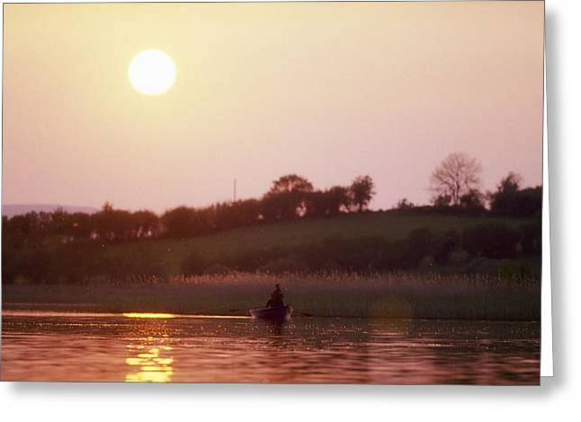Free Of Peace Greeting Cards - Lough Arrow, Co Sligo, Ireland, Angling Greeting Card by The Irish Image Collection