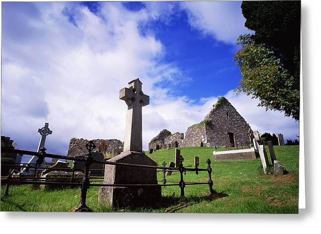 The Wooden Cross Photographs Greeting Cards - Loughinisland, Co. Down, Ireland Greeting Card by The Irish Image Collection