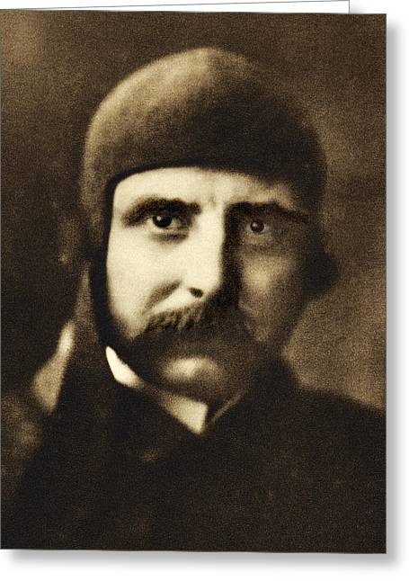 Monoplanes Greeting Cards - Louis Bleriot, French Engineer Greeting Card by Sheila Terry