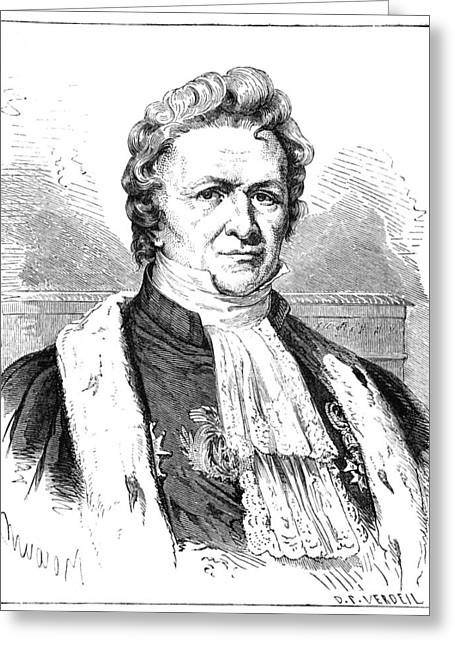 Surname T Greeting Cards - Louis-jacques Thenard, French Chemist Greeting Card by