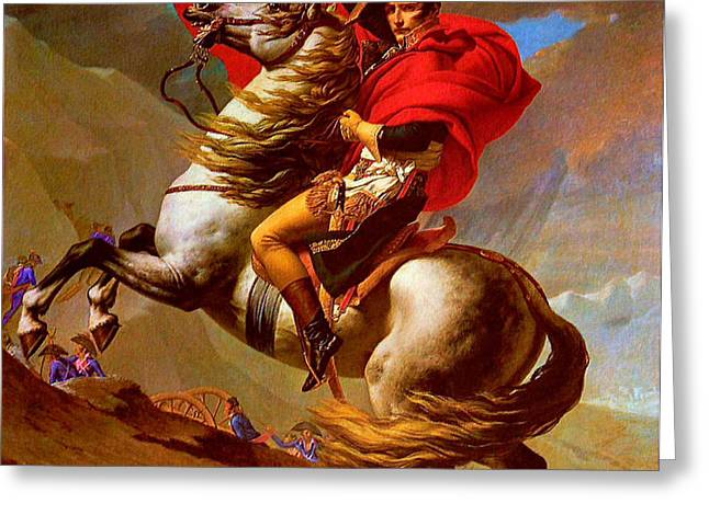 LOUIS NAPOLEON AT THE ST BERNARD PASS Greeting Card by PG REPRODUCTIONS