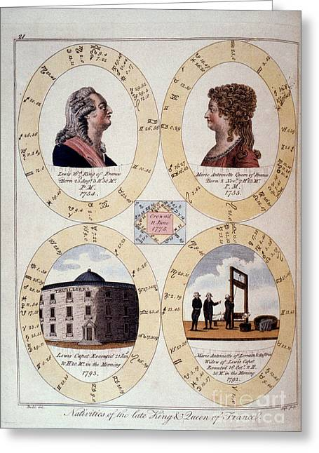 1794 Greeting Cards - Louis Xvi: Horoscope Greeting Card by Granger