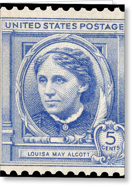 Alcott Greeting Cards - Louisa May Alcott (1832-1888) Greeting Card by Granger