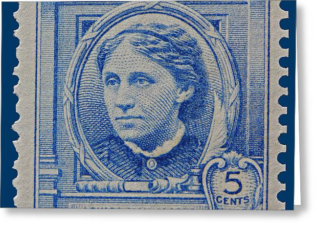 Louisa May Alcott Postage Stamp  Greeting Card by James Hill