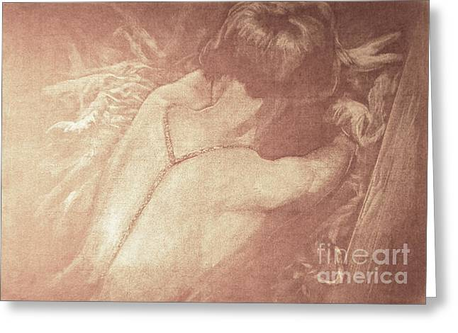 Brook Pastels Greeting Cards - Louise Brooks reclining Greeting Card by Scott Shisler