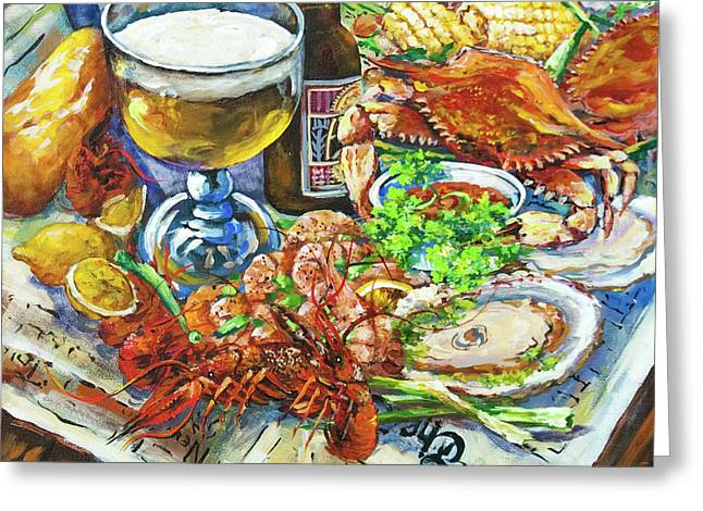 Beer Paintings Greeting Cards - Louisiana 4 Seasons Greeting Card by Dianne Parks