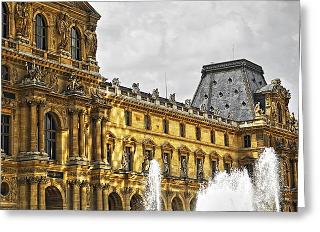 Louvre Greeting Card by Elena Elisseeva