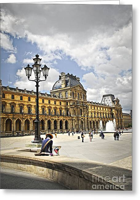 Louvre Greeting Cards - Louvre museum Greeting Card by Elena Elisseeva