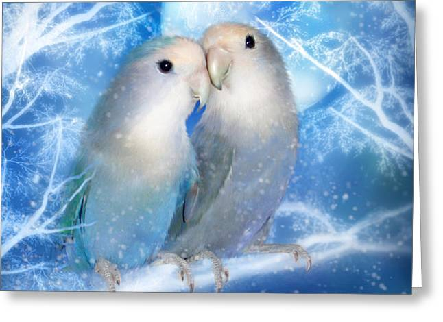 Love At Christmas Card Greeting Card by Carol Cavalaris
