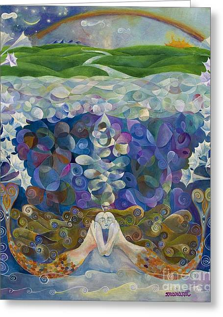 Under The Sea Mermaid Greeting Cards - Love below Greeting Card by Manami Lingerfelt