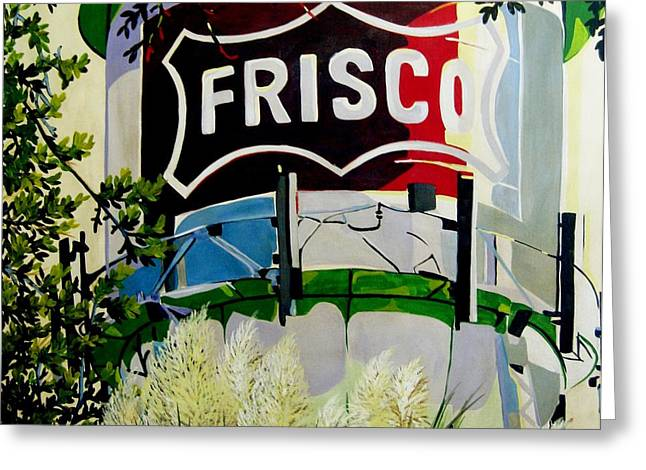 Discovery Mixed Media Greeting Cards - Love Frisco Greeting Card by Diana Moya